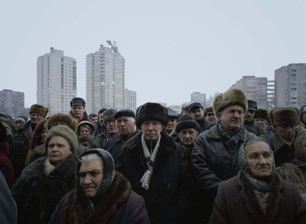 A Rally of the Opposition Candidate Alexander Milinkevich, 12 March 2006, Minsk, Belarus, 2008-2011 © Luc Delahaye & Galerie Nathalie Obadia