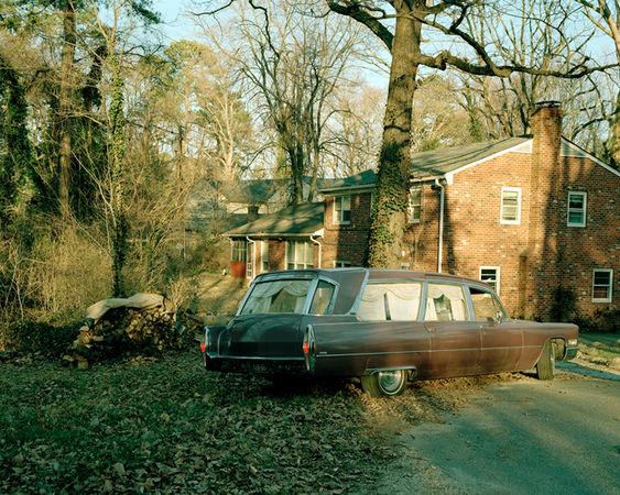 © Susan Worsham. Hearse in my Childhood Driveway