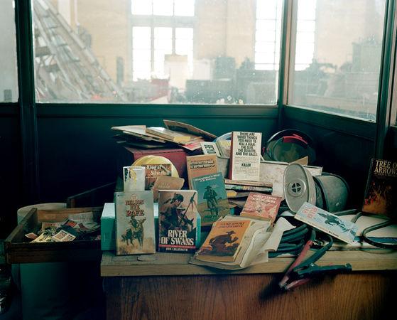 © Susan Worsham. Contents of Desk, Old Cigarette Factory, VA