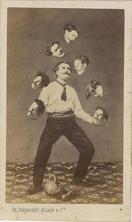 Man Juggling His Own Head, 1880<br> Unidentified French artist