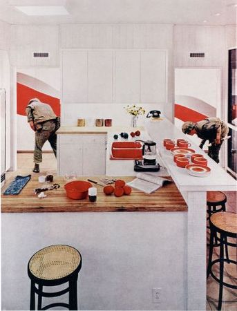 Red Stripe Kitchen, 1967-72, printed early 1990s<br> Martha Rosler (American)