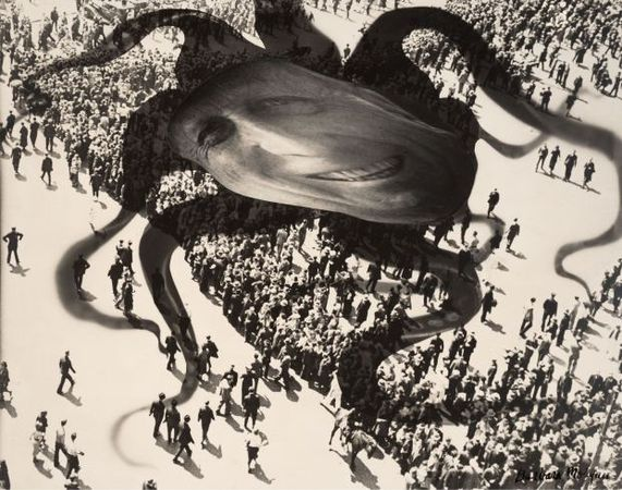 Hearst Over the People, 1939<br> Barbara Morgan (American, 1900-1992)