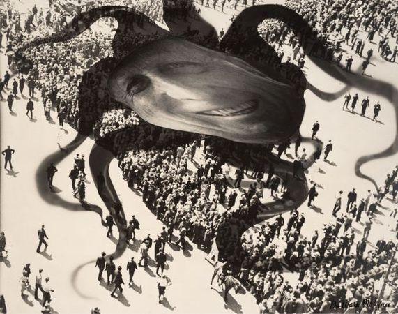 Hearst Over the People, 1939<br> Barbara Morgan (American, 1900-1992)