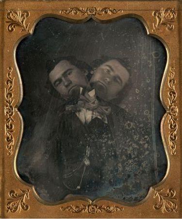 Two-Headed Man, 1855<br> Unidentified American artist