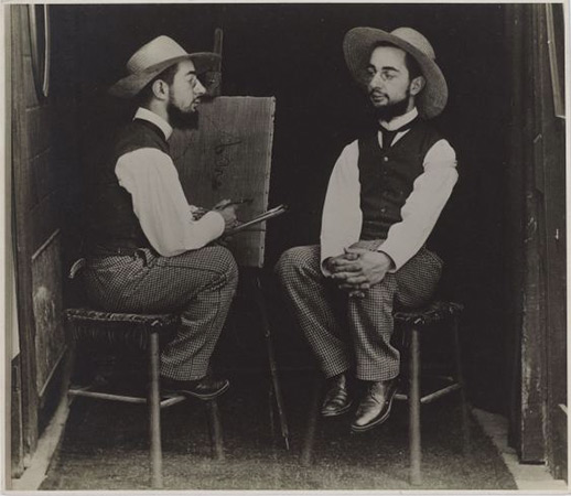 Henri de Toulouse-Lautrec as Artist and Model, 1900 <br>Maurice Guibert (French, 1856-1913)