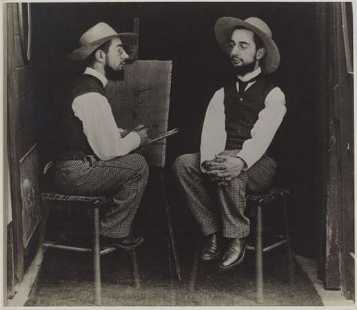 Henri de Toulouse-Lautrec as Artist and Model, 1900 <br>Maurice Guibert (French, 1856-1913)