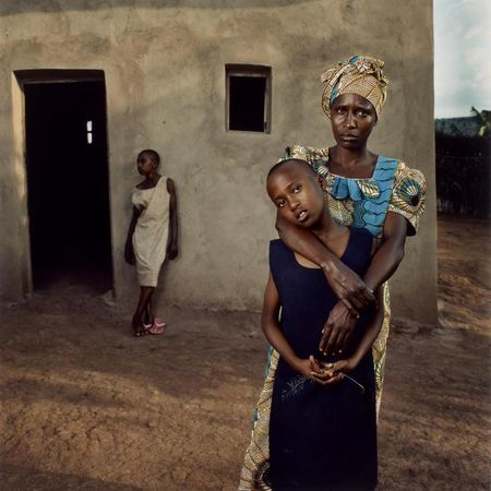 Jonathan C. Torgovnik, Valentine with her daughters Amelie and Inez, Rwanda, from the series Intended Consequences, 2006, chromogenic print, ed. # 11/25, the MFAH, gift of the artist. © Jonathan Torgovnik