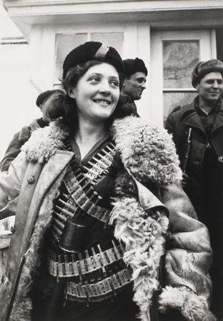 Arkady Shaikhet, Partisan Girl, 1942, gelatin silver print, the MFAH, gift of Marion Mundy. © Arkady Shaikhet Estate, Moscow