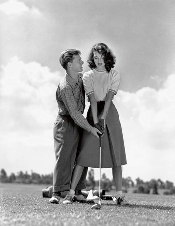 Mickey Rooney & his first wife, Ava Gardner (ph Eric Carpenter, MGM 1942)