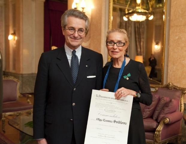 Посол Италии в России Антонио Дзанарди Ланди и директор Мультимедиа Арт Музея Ольга Свиблова