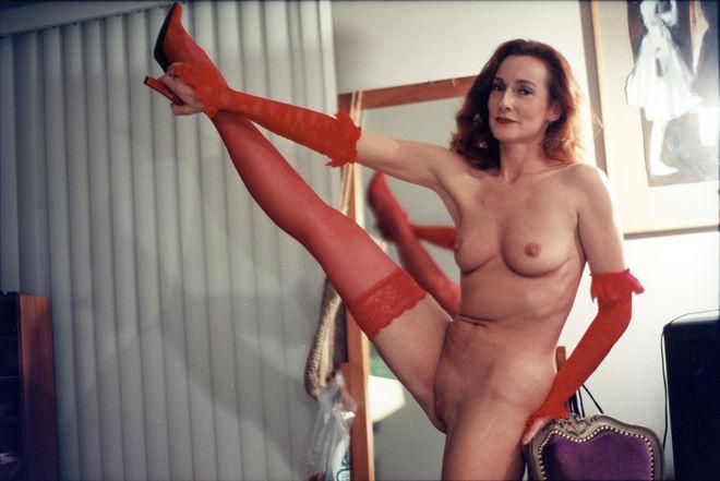 Mom Stretching. 2002. © Leigh Ledare