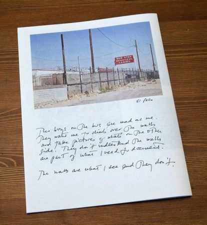 "Postcards From America: back cover of ""Where Can I Find a BJ or an HJ"" © Susan Meiselas—Magnum"