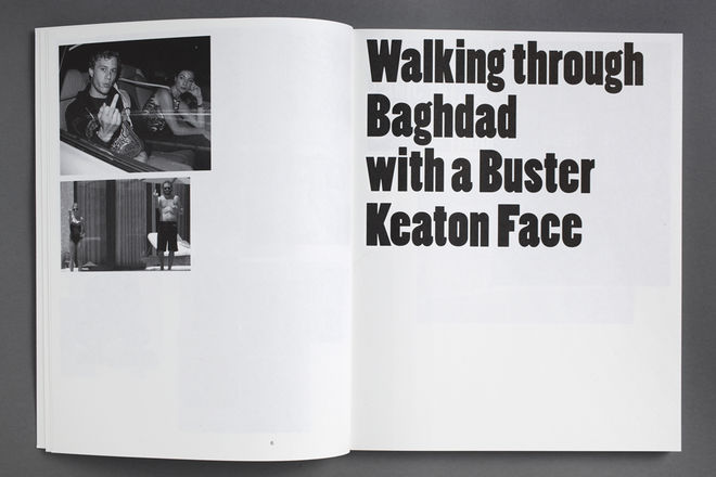 Thomas Galler. Walking through Baghdad with a Buster Keaton Face