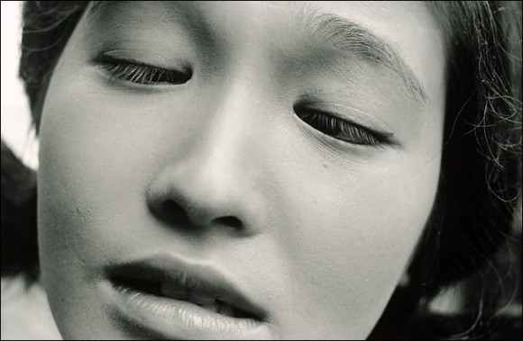 "Portrait of Eiko Oshima, the actress in the film ""Shiiku,"" 1961. © Shomei Tomatsu"