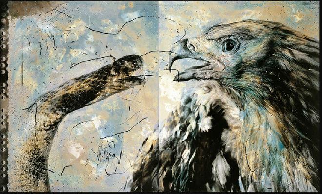 Aigle et serpent, 1989. © Joan Fontcuberta