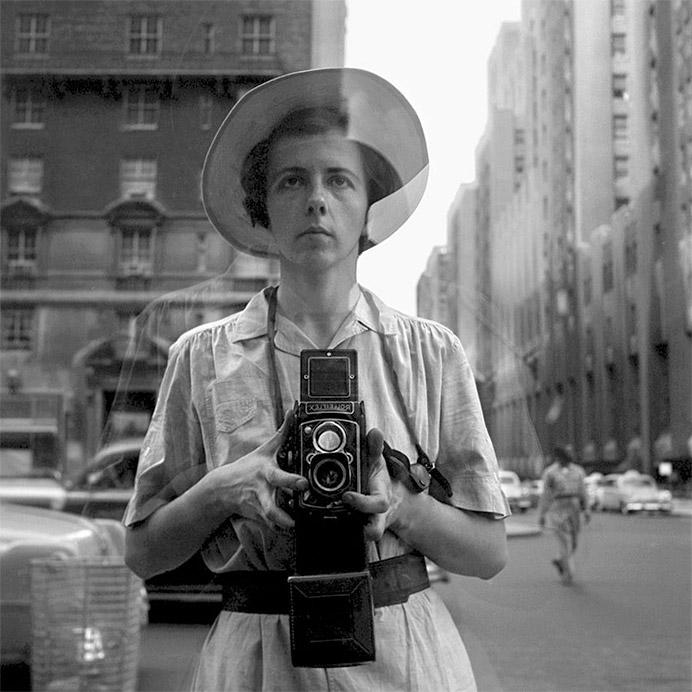 Vivian Maier. Self portraits. September 10th, 1955, New York City