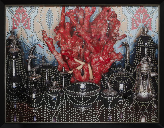 """Corals, """"Manfredi"""" series 2012. 60x80 см. Авторская пигментная печать на бумаге Fine Art,перфорированная фотография, зеркало"""