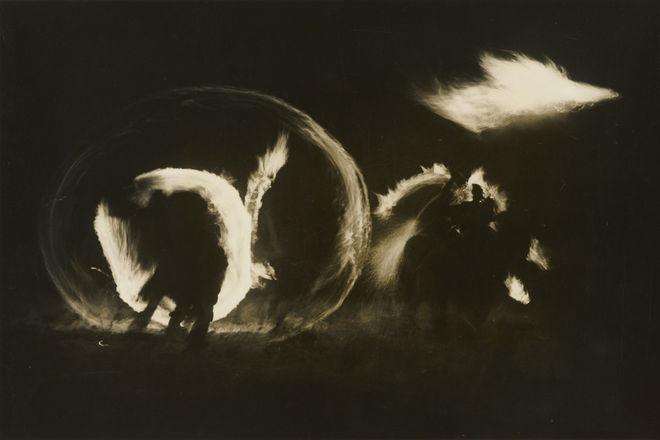Hiroshi Hamaya. Sai no Kami (Fire Festival, New Year