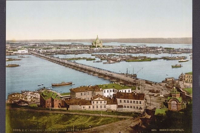 Нижний Новгород, мост через Оку, 1890–1900. Photo by Imagno/Austrian Archives, Vienna