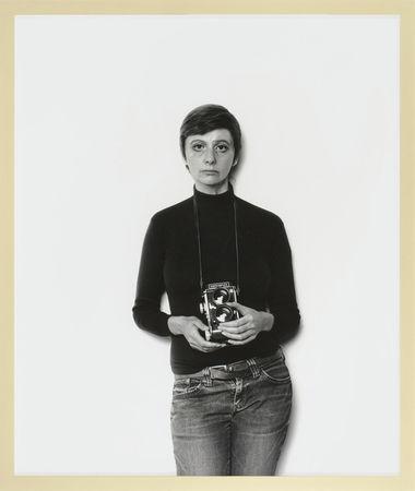 © Gillian Wearing. Me as Arbus. bromide print. framed: 156 x 133 cm. 2008