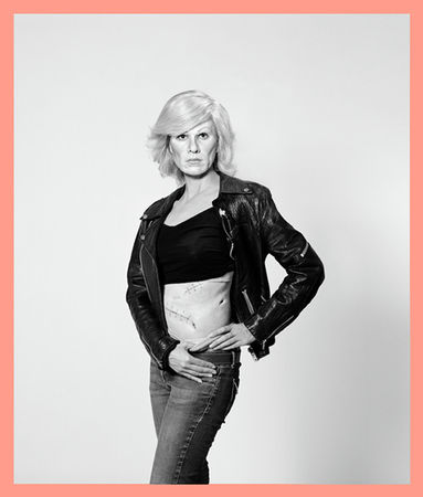 © Gillian Wearing. Me as Warhol in Drag with Scar. bromide print. framed: 156 x 133 cm. 2010