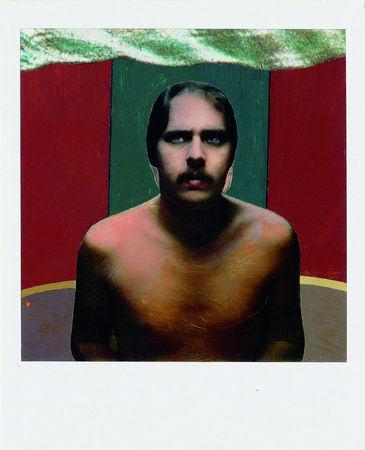 Untitled, Polaroid SX-70 print with acrylic paint and collage. (Bruce Charlesworth/Bruce Charlesworth)