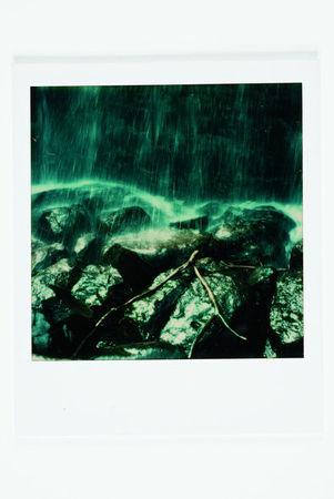 Tree Branch in Waterfall, Polaroid SX-70 print. (Ansel Adams/The Ansel Adams Publishing Rights Trust)