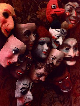 Masks, Dye diffusion transfer print. (Marie Cosindas/Marie Cosindas)
