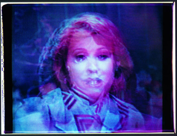 Composite, 1983 from the series Untitled Newswomen (Suite C#1), Large-format Polaroid Polacolor print. (Robert Heinecken/The Robert Heinecken Trust)