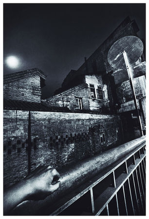 Zhang Haier, Night Scene with the Photographer's Left Hand, 1987, Gelatin silver print , 61 x 50.8 cm , Edition of 10