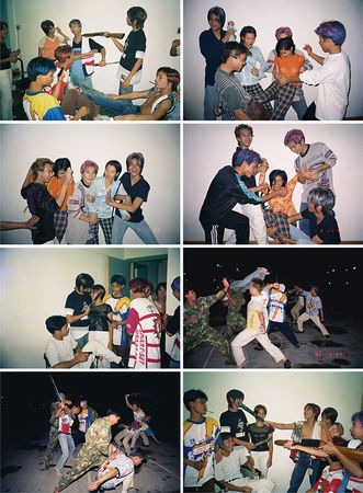 Zheng Guogu, The Vagarious Life of Yangjiang Youth, 1996, Digital inkjet print, set of 16, 61 x 100 cm each, Edition of 8