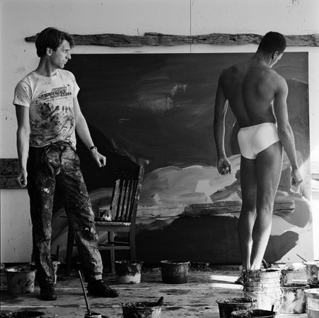Rainer Fetting and Desmond. Jeannette Montgomery Barron | Portraits from the 1980s