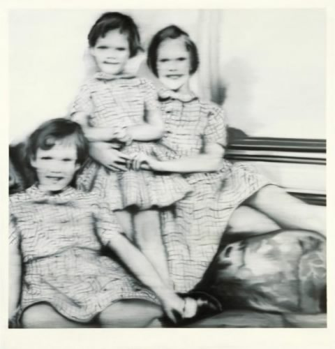 Gerhard Richter. Drei Geschwister Three Siblings. 1965. 135 cm x 130 cm. Oil on canvas. Catalogue Raisonné: 82