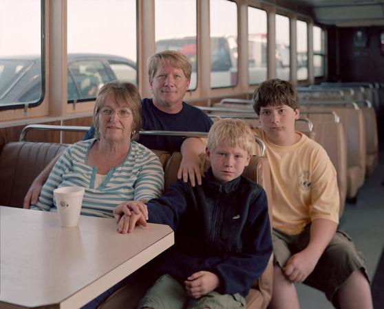 Nancy, Guy, Jamie and Tre, Ocracoke Island Ferry, NC, 2011 © Richard Renaldi