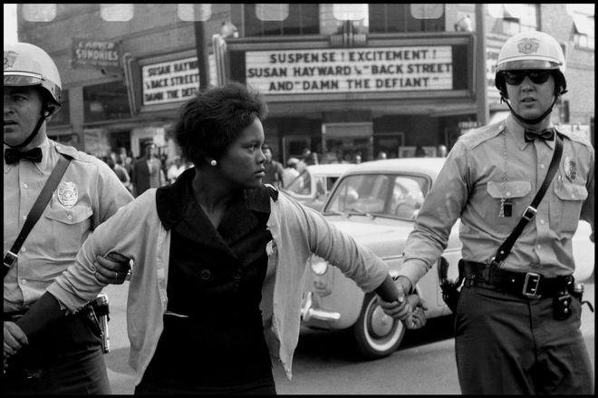 USA. Birmingham, Alabama. 1963. Arrest of a demonstrator. © Bruce Davidson/Magnum Photos