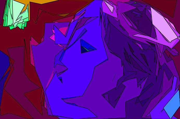 Голубая девушка
