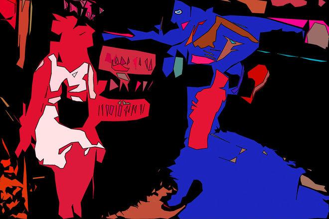 """© Валерий Щеколдин. Энергетический удар. Из цикла """"Монстры Невского проспекта"""""""