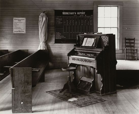Church Organ and Pews, Alabama. 1936. The Museum of Modern Art