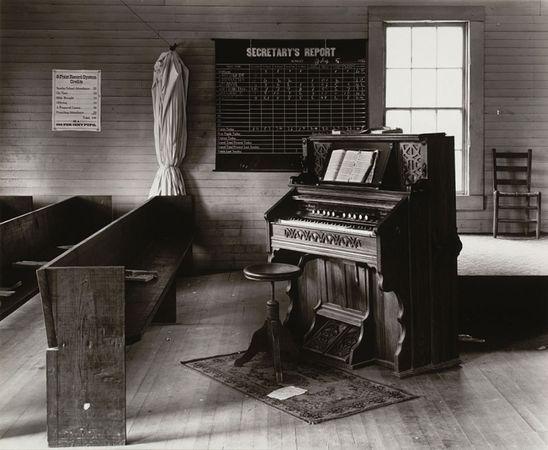 Church Organ and Pews, Alabama. 1936. The Museum of Modern Art