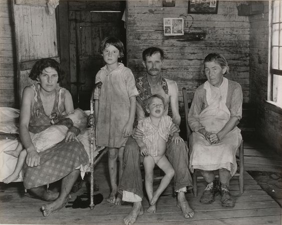 Sharecropper's Family, Hale County, Alabama. March 1936. The Museum of Modern Art