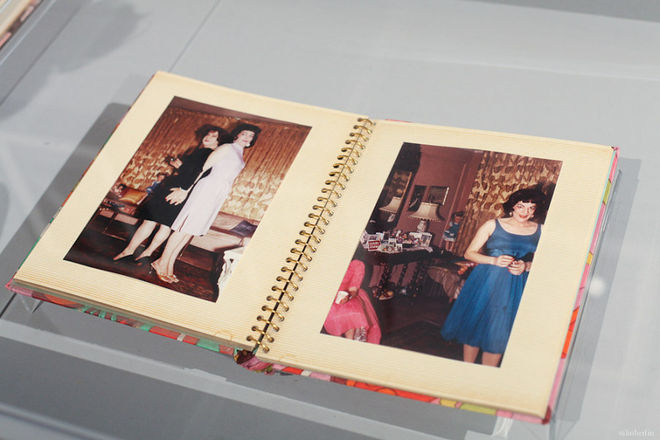 Cindy Sherman exhibits parts of her photo-album collection in the section she curated at the Arsenale. Photo Mary Scherpe