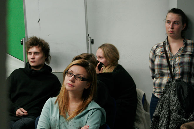 Лекция Николая Бахарева в школе имени Родченко © Валерий Щеколдин