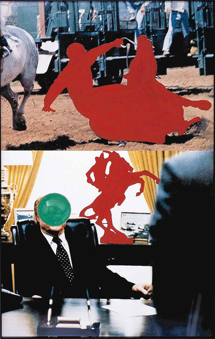 John Baldessari, Two Persons on Horseback (One Fallen), Courtesy Sammlung Falckenberg / Deichtorhallen Hamburg