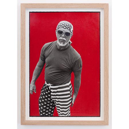 Ed Templeton: All American Red, 2013. Spray paint on silver gelatin print 23 x 33 cm. Artwork Of Nils Stærk