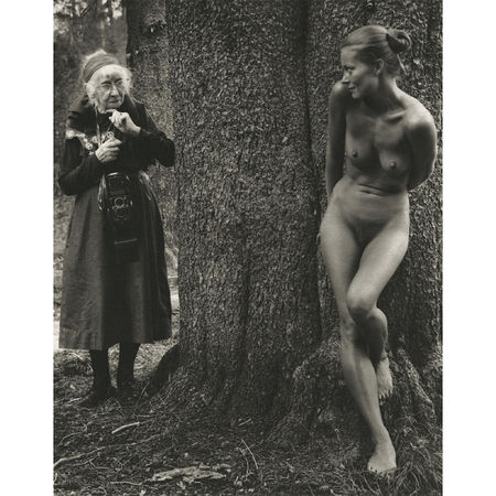Judy Dater: Imogen and Twinka at Yosemite, 1974 Platinum palladium print; printed later 19 1/2 x 16 inches. Artwork Of Howard Greenberg Gallery