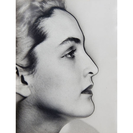 Man Ray: Portrait of Meret Oppenheim, 1932 9 x 7 inches. Artwork Of Edwynn Houk Gallery