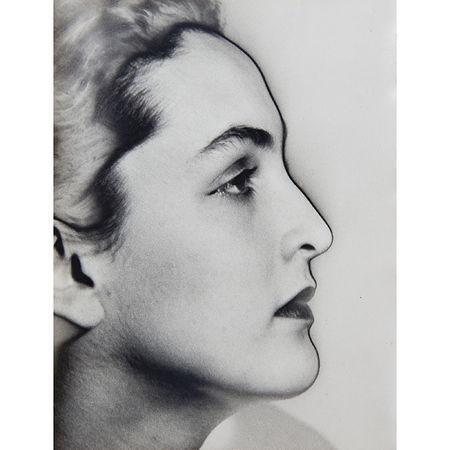 Man Ray: Portrait of Meret Oppenheim, 1932 9 x 7 inches. Artwork Of Edwynn Houk Gallery