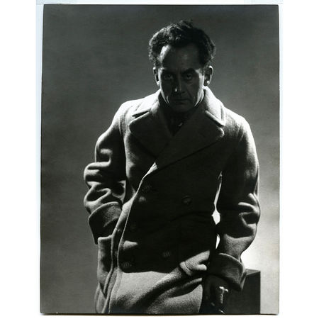 Man Ray: Self Portrait in Trench Coat, 1933 Gelatin silver print 9 1/8 x 7 1/8 inches. Artwork Of Francis M. Naumann Fine Art