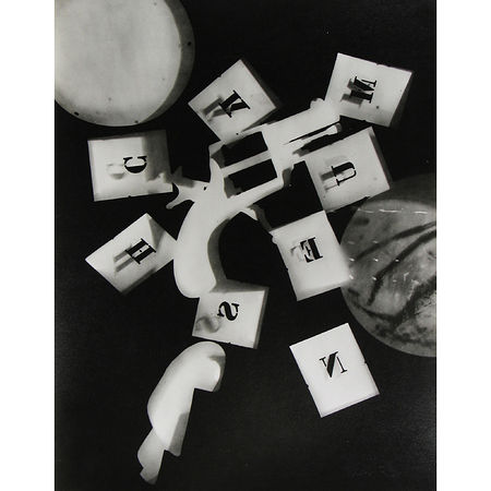"Man Ray: Untitled, 1925 From the Portfolio ""12 Rayographs, 1921-28"" Gelatin silver print; printed 1963 11 x 8 1/2 inches. Artwork Of Howard Greenberg Gallery"