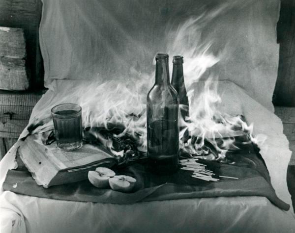Борис Кудряков «Горящий натюрморт» (1972)